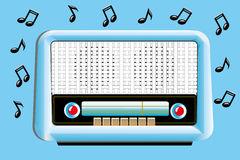 Weinlese-Radio Lizenzfreies Stockbild