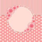 Weinlese-Rahmen mit Rose Flowers Vector Lizenzfreie Stockfotografie