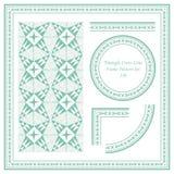 Weinlese-Rahmen-Muster stellte 226 Hand gezeichnete Dreieck-Kreuz-Linie ein Lizenzfreies Stockbild
