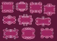 Weinlese Rahmen oder Cartouches eingestellt stock abbildung