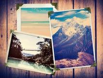 Weinlese-Reise-Fotos Lizenzfreie Stockfotos