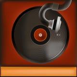Weinlese-Rekordspieler-Hintergrund Lizenzfreies Stockbild