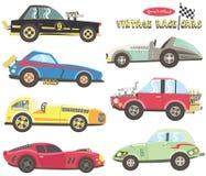 Weinlese-Rennwagen-Sammlungen lizenzfreie abbildung