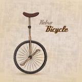 Weinlese-Retro- Fahrrad Stockfotografie