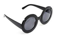 Weinlese Retro- wedgwood blaue Sonnenbrille lokalisiert auf Weiß lizenzfreies stockbild