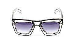 Weinlese Retro- wedgwood blaue Sonnenbrille lokalisiert auf Weiß lizenzfreie stockfotos