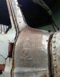 Weinlese-Retrostil-LKW des Nahaufnahmedetails alter benutzt in THAILAND Stockfotografie