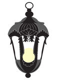Weinlese-Rokokoartlampe lokalisiert Lizenzfreie Stockbilder