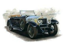 Weinlese Rolls Royce Lizenzfreie Stockfotografie