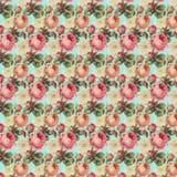Weinlese-Rosen-Blumenmuster Stockbilder