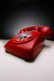 Weinlese-Rot-Telefon Stockfoto