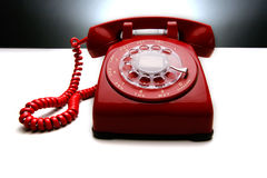 Weinlese-rotes Telefon 2 Stockbilder