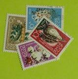 Weinlese-Russland-Briefmarke stockfotografie