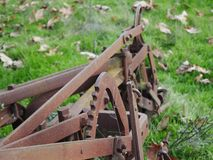 Weinlese Rusty Plow 3 stockfoto