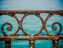 Weinlese Rusty Railings Stockfotos