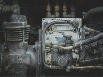 Weinlese-Rusty Tractor-Maschinenabschluß oben Stockfoto