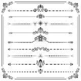 Weinlese-Satz ector horizontale Elemente Lizenzfreies Stockbild