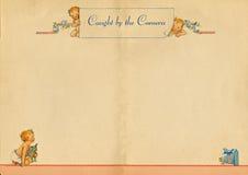 Weinlese-Schätzchen-Buch-Seite Stockbild