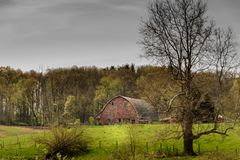 Weinlese-Scheune Lizenzfreies Stockfoto