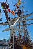 Weinlese-Schiff am Ereignis nannte Ostende-Anker Stockfotografie