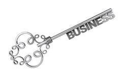 Weinlese-Schlüssel mit Wort-Geschäft Lizenzfreie Stockfotos