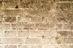 Weinlese-Schmutzwand des Ziegelsteines alte mit Sprungsnahaufnahmebeschaffenheit Lizenzfreie Stockfotografie