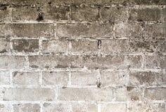 Weinlese-Schmutzwand des Ziegelsteines alte mit Sprungsnahaufnahmebeschaffenheit Stockfotografie