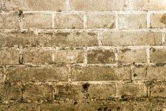 Weinlese-Schmutzwand des Ziegelsteines alte mit Sprungsnahaufnahmebeschaffenheit Stockbild