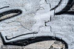 Weinlese-Schmutzwand des Ziegelsteines alte mit Sprungsnahaufnahmebeschaffenheit Stockfoto