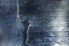 Weinlese-Schmutzwand des Ziegelsteines alte mit Sprungsnahaufnahmebeschaffenheit Lizenzfreies Stockfoto
