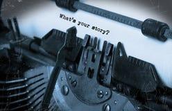 Weinlese-Schreibmaschine Stockbilder