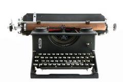 Weinlese-Schreibmaschine getrennt auf Weiß Stockbild