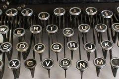Weinlese-Schreibmaschinen-Schlüssel Stockbild