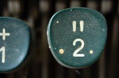Weinlese-Schreibmaschinen-Schlüssel, Nr. 2 Stockbild