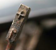 Weinlese-Schreibmaschinen-Schlüssel, Nr. 1 Lizenzfreies Stockbild
