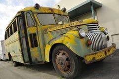 Weinlese-Schulbus Lizenzfreies Stockbild