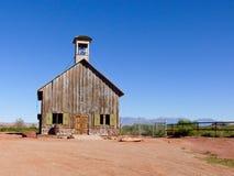 Weinlese-Schulhaus in Arizona Lizenzfreies Stockbild