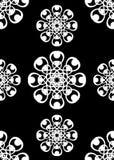 Weinlese-schwarze weiße Tapete Stockfotografie