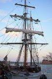 Weinlese-Segelschiff stockfotos