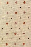 Weinlese-Segeltuch, Hintergrund mit Muster Stockfoto