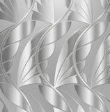 Weinlese-silbernes Blatt-Hintergrund Stockbild