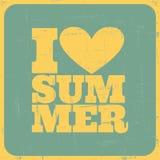 Weinlese-Sommer-Plakat Stockfotografie