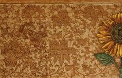 Weinlese-Sonnenblume-Hintergrund Stockfotos