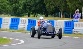Weinlese-Sport-Motor- Blau Lizenzfreies Stockfoto