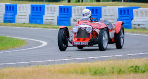 Weinlese-Sport-Motor- Rot Stockfoto