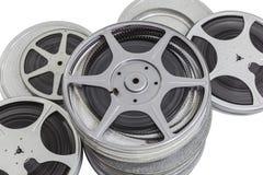 Weinlese-Stapel der 8MM Film-Dosen getrennt Lizenzfreie Stockfotos
