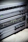Weinlese-Stereoanlage-Elektronik Lizenzfreie Stockbilder