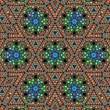 Weinlese-Stickerei-Textildesign vektor abbildung
