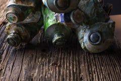 Weinlese stilisierte Foto Ölder mehrfarbenfarben-Rohrnahaufnahme und Stockbilder