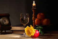 Wein und Früchte Lizenzfreies Stockbild
